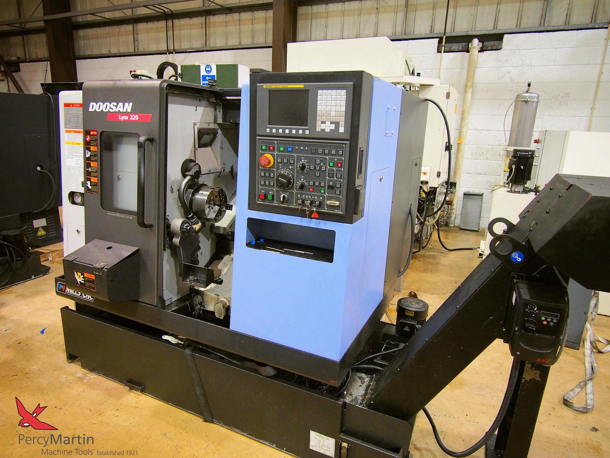 used Doosan Lynx 220B 2013 CNC Lathes for sale | Percy Martin