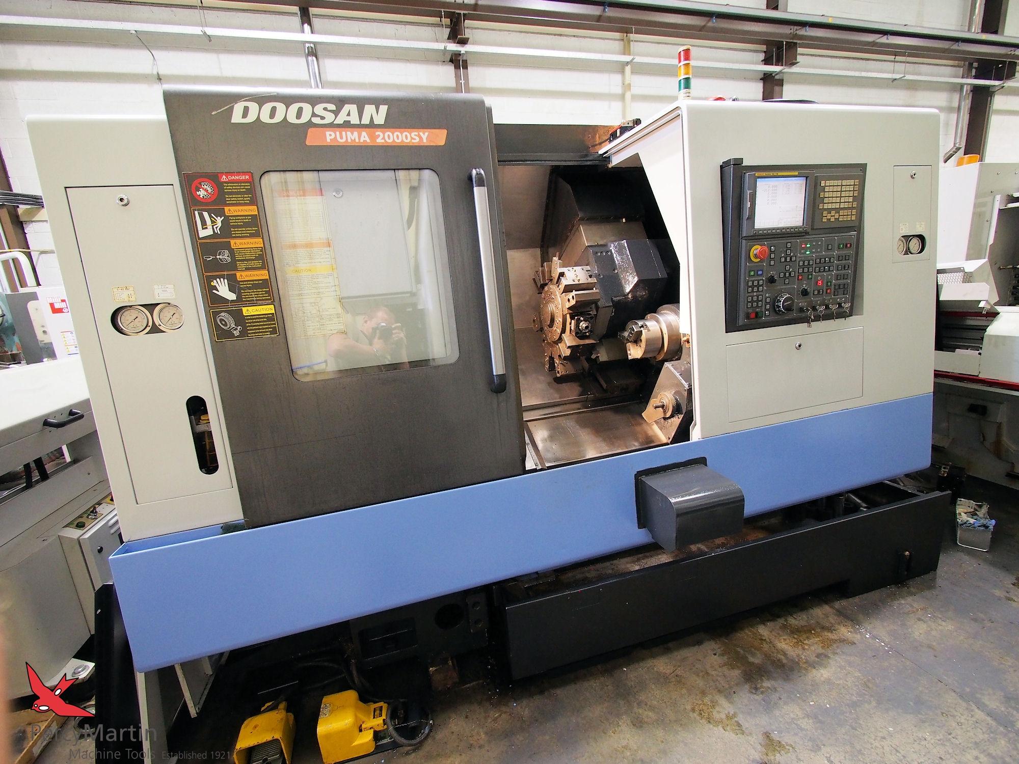 used doosan puma 2000sy 2007 cnc lathes with milling for sale rh percymartin co uk CNC Lathe Machine CNC Lathe Machine